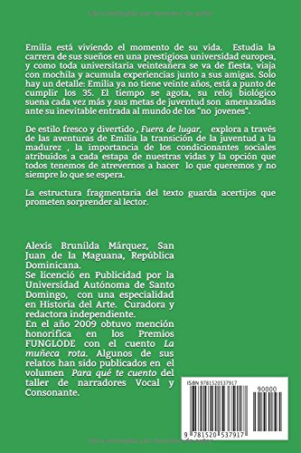 Fuera de lugar (Spanish Edition): Alexis Brunilda Márquez: 9781520537917: Amazon.com: Books