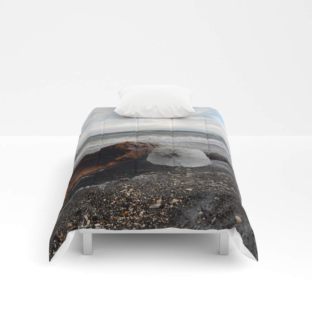 Society6 Comforter, Size Twin XL: 68'' x 92'', Driftwood and Ice in Spring by danbythesea