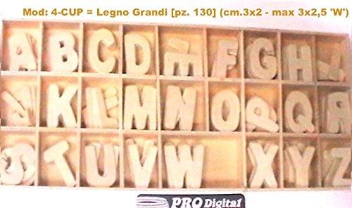 Numeri in Legno (5 per Numero) tot. 50 pz. in comoda scatola con separatori sempre in legno Dalu