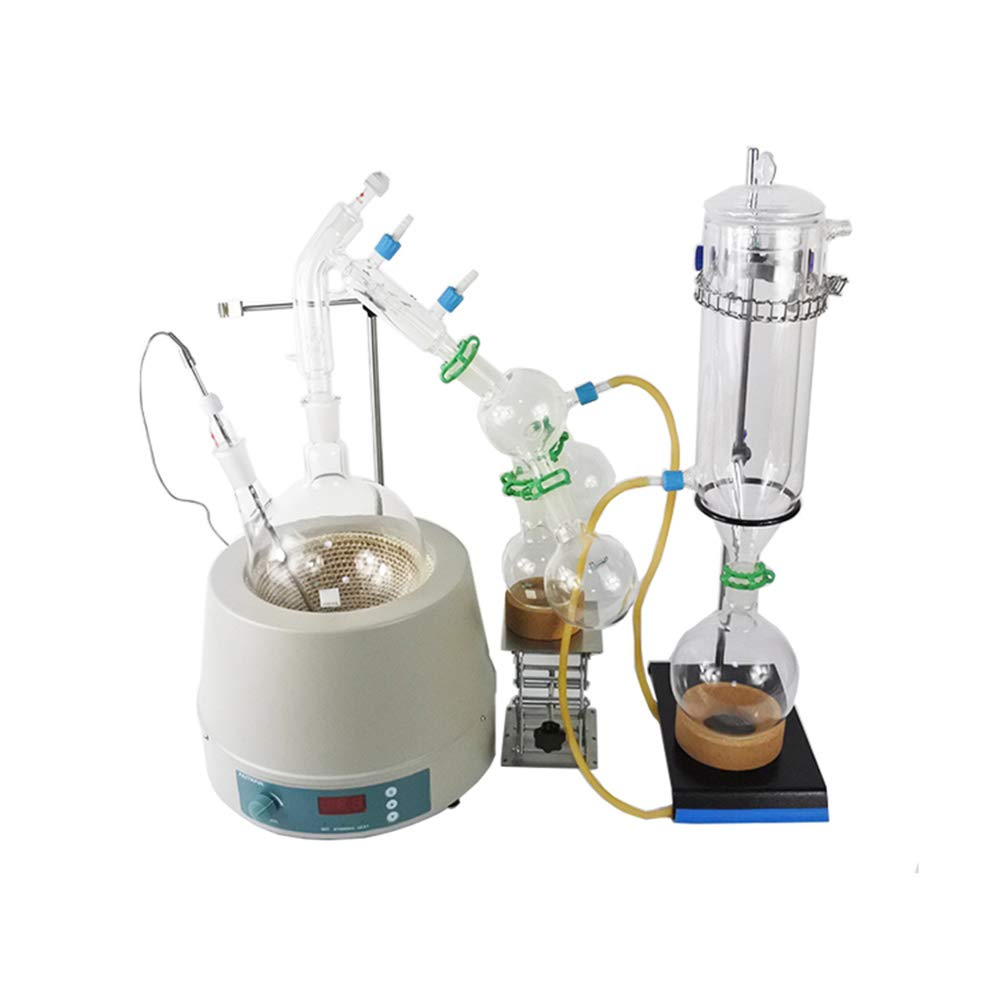 haocheng Factory Stocks Available Sale 2L Short Path Distillation with Cold Trap and 110V Stirring Heating Mantle