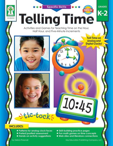 Telling Time, Grades K - 2: Activities and Games for Teaching Time on the Hour, Half-Hour, and Five-Minute Increments (Specific Skills)