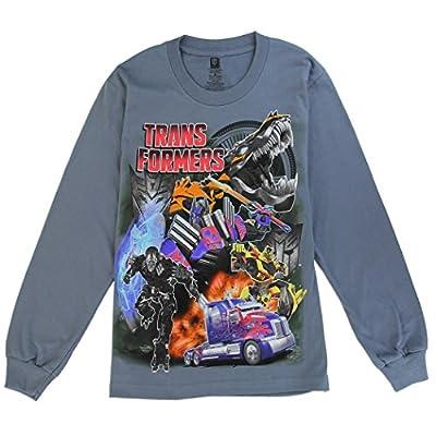 Freeze Transformers Big Boys' Long Sleeve Crewneck Tee