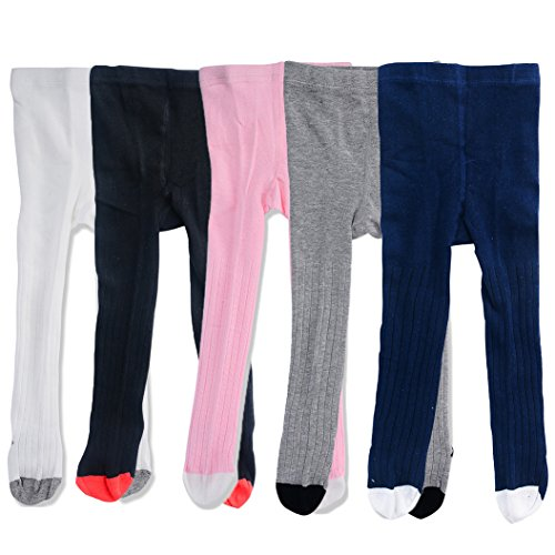 Baby Child Girl Fashion Cotton Stocks Leggings Tights Warm Stockings, 5pcs#1, XL (3-4 Years)