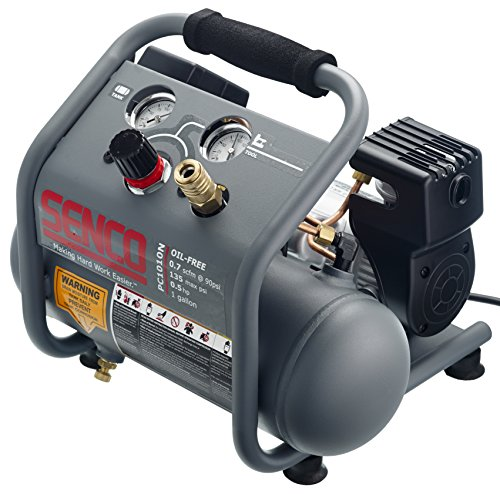 [해외]Senco PC1010N 1 2 마력 휴대용 핫도그 압축기, 1 갤론, 그레이 마감 처리/Senco PC1010N 1 2 hp Finish and Trim Portable Hot Dog Compressor, 1 gal