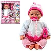 Gerçek Mimikli Sesli Oyuncak Pıtırcık Et Bebek - 40 cm