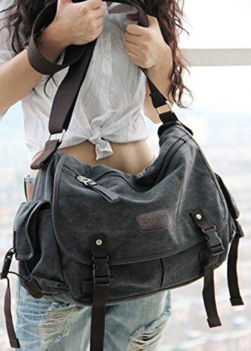 Amazon.com  Digital baby Big Vintage Canvas Messenger Bag Book Laptop  Shoulder School Ladys Women Men New (Large 3323778da9d81