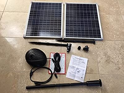 AQUAPLANCTON MNP SF100 Solar Powered Pump for Fountain or Waterfall/Filtration