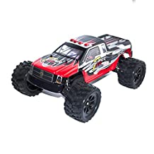 ALEKO® 66212 Electric Powered Brushless Motor High Speed Off-Road Monster Truck, Red 1/12 Scale