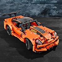 2 In 1 Hot Rod Toy Car Model Lego 42093 Technic Chevrolet Corvette Zr1 Race Car