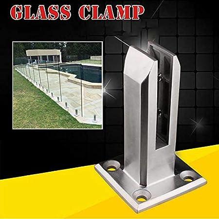 Apoorry - Espátula de cristal para escaleras, balcón, piscina, baranda de balaustrada, acero inoxidable 304, clip de seguridad para escaleras, barandillas, jardín: Amazon.es: Hogar