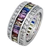 Promise Wedding Party Multi Gemstone Ring Ruby Morganite Citrine...