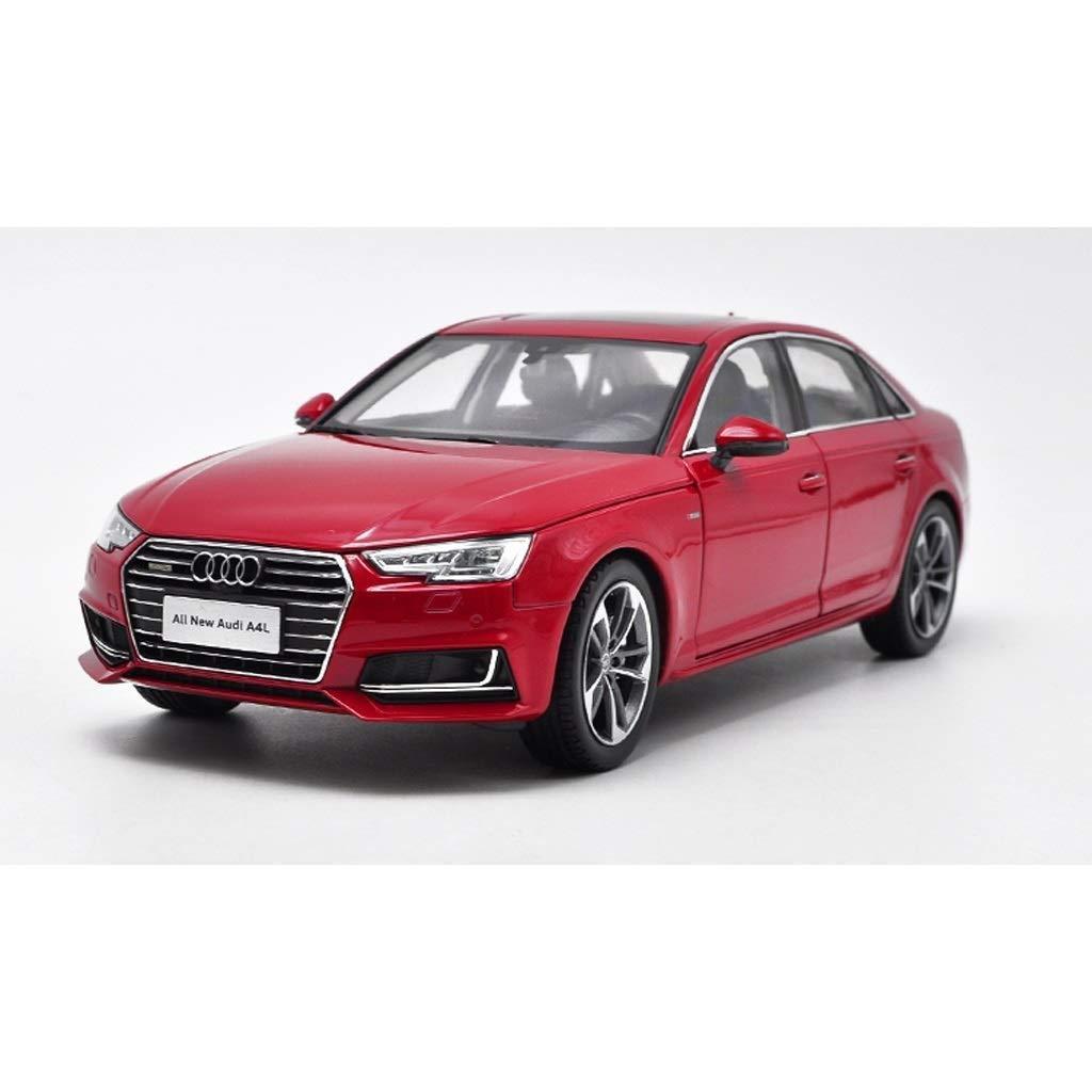 KKD Scale-Modellfahrzeuge 1 18 2017 audi a4 auto modell simulation legierung auto modell dekoration metall sammlung Mini Fahrzeuge (Farbe   Weiß) rot