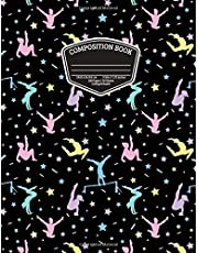 Gymnastics Composition Book for Girl Gymnasts: College Ruled Blank Lined Paper School Notebook, 100 pages