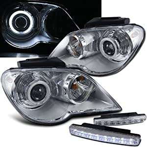 Amazoncom Chrysler Pacifica Projector Headlights Halo Chrome Clear