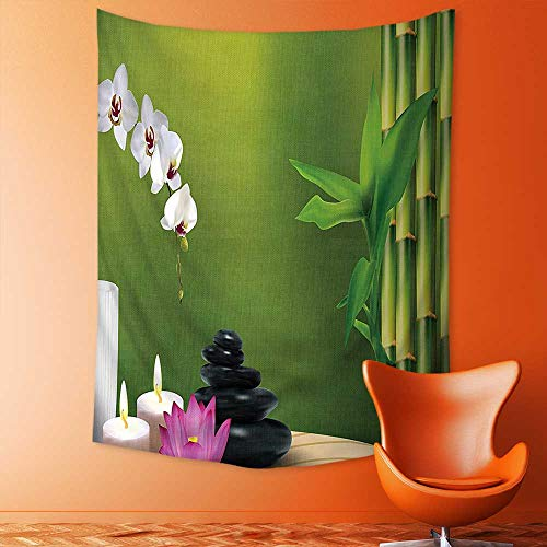 aolankaili Decorate Tapestry Wall Hanging,Bamboo Flower Stone Wax On The Table Orchid Rock Healthy Lifestyle Bedroom Living Room Dorm (Lifestyle California Living Room Table)