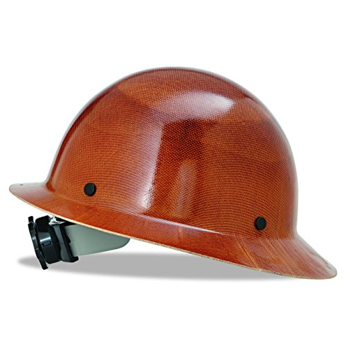 MSA 475407 Natural Tan Skullgard Hard Hat with Fas-Trac Suspension - Hard Hat Helmet