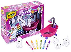 Crayola Scribble Scrubbie Pets Scrub Tub Animal Toy Set brings kids crafts to life with 4 washable animal figures that little would-be groomers can customize again and again! Set aside your traditional coloring books and choose a pooch or get smitten...