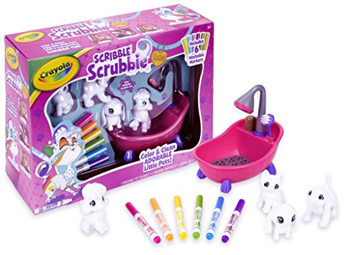Crayola Scribble Scrubbie Pets Scrub Tub Animal Toy Set Age 3+ (Christmas Presents For 4 Yr Old Girl)