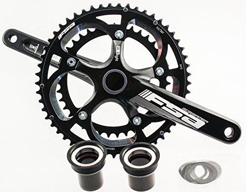 Fsa Bike Cranks (2013 FSA BBRIGHT GOSSAMER Road Bike Crankset 53/39 170 10S N10 Black)