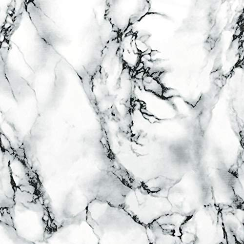 (d-c-fix 346-8031 Decorative Self-Adhesive Film, Marble White, 26