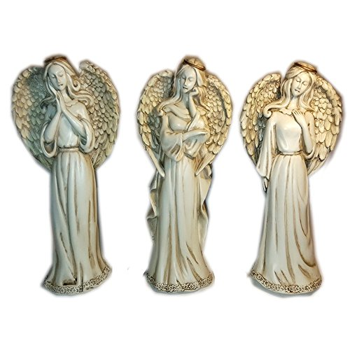 Pray - Think - Love - Angel Figurines Set Gift Bundle by Gantz