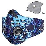 Mecar Sport Dust Mask Cycling Running Outdoor Face Mask Starter Training Mask,Blue