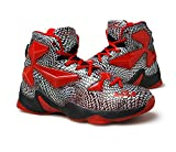 No.66 Town Men's Performance Shock Absorption Running Shoes Sneaker Basketball Shoes Size 7 Red