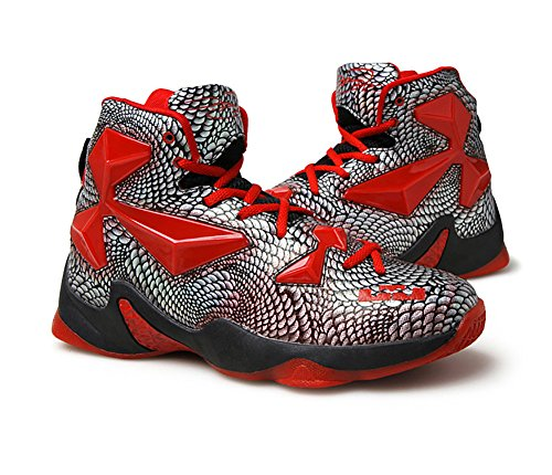 No.66 Town Men's Performance Shock Absorption Running Shoes Sneaker Basketball Shoes Size 6.5 Red