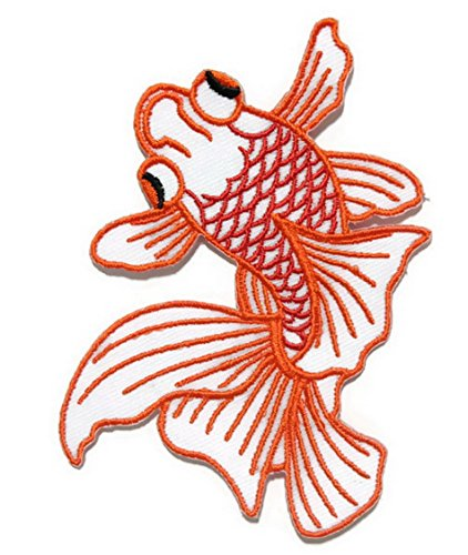 Goldfish Iron on Patch Embroidered Sewing for T-shirt, Hat, Jean ,Jacket, Backpacks, Clothing Ships and sold from Naree2016. Made in Thailand, Buy good quality item