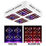 Morsen 1200W LED Grow Light Dimmable Full Spectrum Grow Light Reflector for Indoor Plants