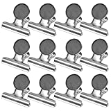12 PCS Refrigerator Calendar Magnet Hook Clips for Kitchen Office School Home Use 38mm