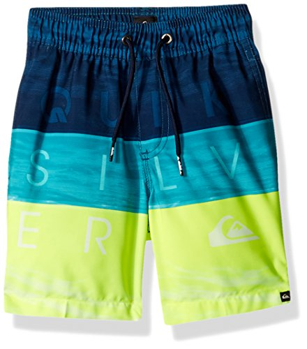 Quiksilver Little Boys' Word Waves Vl 14 Boardshort, Viridian Green, 4 - Quiksilver Board Shorts Infant