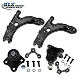 DLZ 4 Pcs Suspension Front Lower Suspension Kit-2 Control Arm, 2 Ball Joints for 1998 1999 2010 Volkswagen Beetle, 1999-2004 Volkswagen Golf, 1999-2004 Volkswagen Jetta