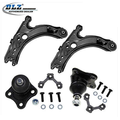DLZ 4 Pcs Front Lower Suspension Kit-2 Control Arm 2 Ball Joint Compatible with 1998 1999 2010 VW Beetle 1999 2000 2001 2002 2003 2004 VW Golf Jetta K90355 K640176 K90357 ()