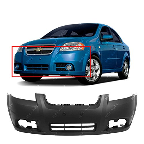 - MBI AUTO - Primered, Front Bumper Cover Fascia for 2007-2010 Chevy Aveo Sedan 07-10, GM1000833