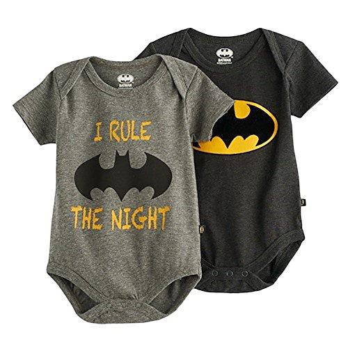 Batman Infant Boys' 2 Piece Short-Sleeve Bodysuit (3-6 - Halloween Nerd Look For