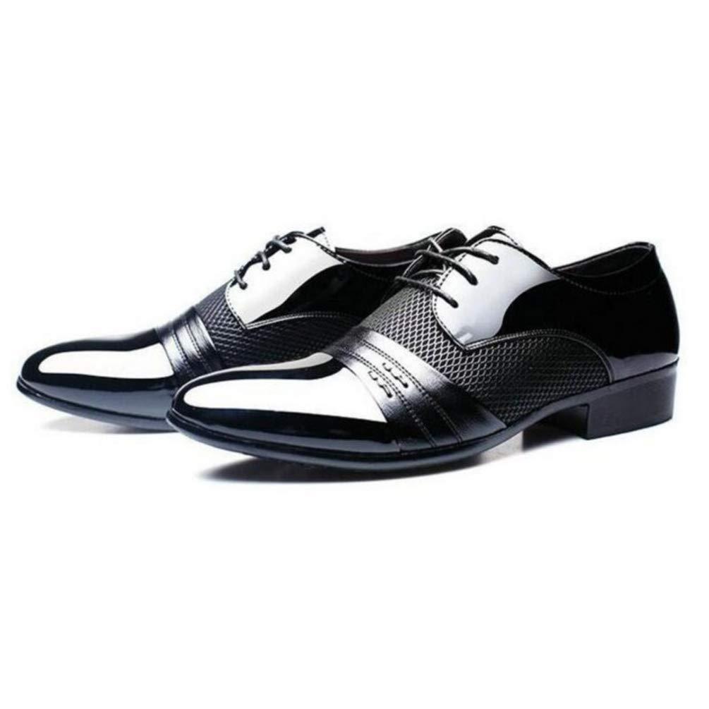 HhGold Chaussures de c/ér/émonie pour Hommes Chaussures de f/ête pour Hommes 48 Chaussures de Banquet Confortables et Respirantes Chaussures de Mariage pour Hommes color/é : Noir, Taille : 6=38 EU