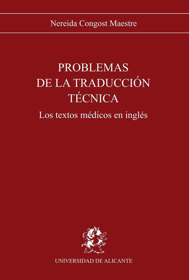 Problemas De LA Traduccion Tecnica: Textos Medicos (Spanish Edition): Nereida Maestre: 9788479081423: Amazon.com: Books