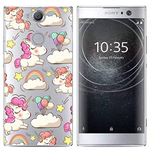 PREVOA Funda para Sony Xperia XA2 - Colorful Silicona TPU Funda Case para Sony Xperia XA2 Smartphone - 14 6