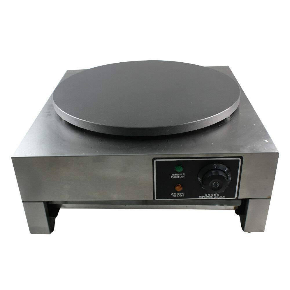 Electric Crepe Maker, 16'' Commercial Electric Crepe Maker Pancake Griddle Machine Single Hotplate Non Stick for Pancakes, Blintzes, Eggs