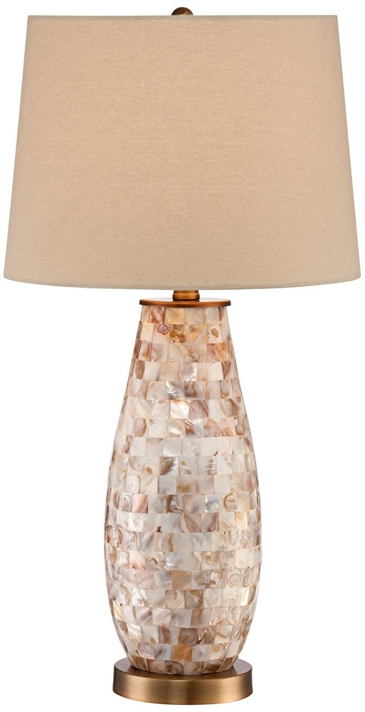 Kylie mother of pearl tile vase table lamp amazon aloadofball Choice Image