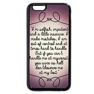 UniqueBox - Customized Black Soft Rubber(TPU) iPhone 6+ Plus 5.5 Case, Marilyn Monroe iPhone 6 Plus case, Only fit iPhone 6+ (5.5 Inch) hjbrhga1544
