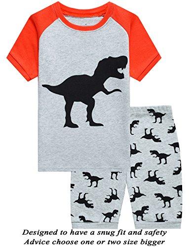 Little Pajamas Boys Pajamas 100% Cotton Sleepwear,Gray (Boys Pjs)