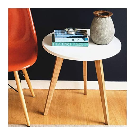 STNDRD. Bamboo End Table: Mid-Century Modern. Bedside Nightstand or Living Room Side Table (Set of 2) - NATURE-FRIENDLY. The STNDRD. 3 legged bamboo side table is an environmentally friendly piece of furniture. Bamboo is one of the many renewable resources in the planet. It takes only 5 years to regrow a bamboo tree compared to other types of hardwood. RUSTIC FURNITURE. This 3 legged bamboo furniture is a versatile piece. It is built from bamboo wood strong enough to hold some indoor plants. The 3 light colored bamboo legs is manufactured without using any method to alter its natural rustic look. PROVIDES COMPETITIVE PRICING ON FURNITURES. Our bamboo table top furniture comes at a competitive price compared to other wood furniture sets. Bamboo is a low cost raw material so it owns a big price advantage over other kinds of furniture sets. - nightstands, bedroom-furniture, bedroom - 51NG2KWxvML. SS570  -