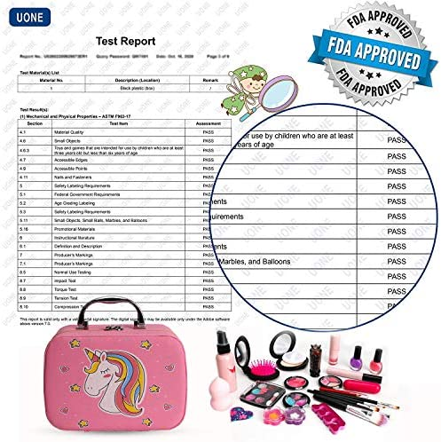 Flybay Kids Makeup Kit for Girls, Real Makeup Set, Washable Makeup Kit Toys for Little Girls Child Pretend Play Makeup for 4 5 6 7 Years Old Birthday Gifts Toys.