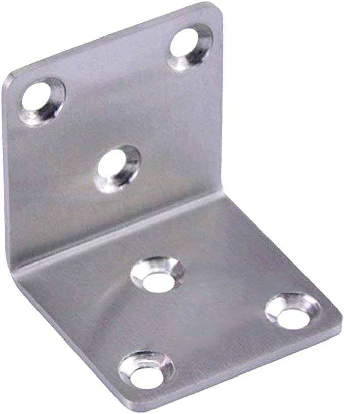 Stainless Steel 3 mm V2A Brushed K240 L-Plate Angle Plate Socket Plate Metal Angle Corner