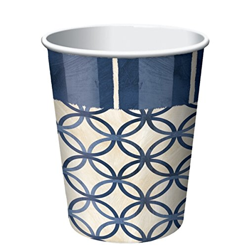 Creative Converting 8 Count Paper Cups, Boating (Colored Styrofoam Plates)