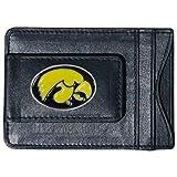 Iowa Hawkeyes Fine Leather Money Clip - Black