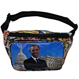 Michelle and Barack Obama Magazine Style Fanny Pack Collection (Barack-Multi)