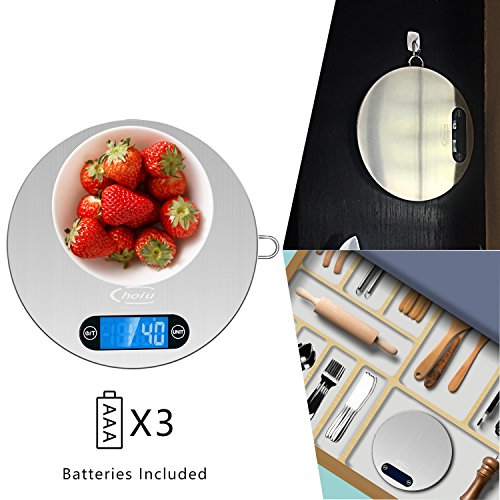 Price comparison product image Easy Store Digital Kitchen Scale for Coffee Baking Soap Making Weight Grams Scale for Food Balance Dieting (Batteries Included)